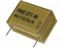 Capacitor  paper, X2, 47nF, 275VAC, Pitch  15.2mm, ±20%, THT, 630VDC