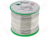 Solderwire, lead free, with copper addition 0,5mm/0,25k