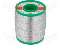 Solderwire, lead free, with copper addition 0,5mm/1,0kg