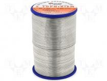 Solderwire, lead free, with copper addition 1,0mm/0,5kg