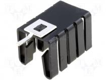 Heatsink black finished L=19mm 26,8K/W for TO220