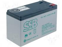 Rechargeable acid cell 12V 7,2Ah 151x65x94mm long life