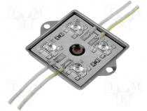 OF-ALU4FXG - LED module No.of LEDs:4 green 4500mcd 120° 12V