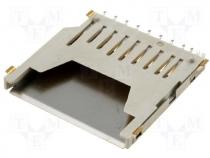 Card Connector - Connector for cards SD SMD Plating gold plated Mat LCP 1A