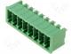 Pluggable terminal block socket male straight 3.5mm THT 11A