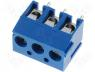 TB-3.8-P-3P-BL - Terminal block angled 0.5mm2 3.81mm THT screw terminals 10A