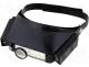 Mobile lamps with magnifier - Magnifying glass, binocular, double illuminated, on hea
