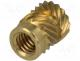 B4/BN1052 - Threaded insert, brass, without coating, M4, BN 1052, L 8.2mm