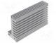 SK610-84AL - Heatsink extruded, TO220, natural, L 84mm, W 55mm, H 31mm, 5K/W