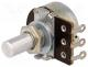 Potentiometer  shaft, single turn, 1kΩ, 200mW, ±20%, on panel, 6mm