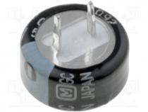 Supercapacitor - Capacitor  electrolytic, supercapacitor, THT, 1F, 5.5VDC, -25÷75°C