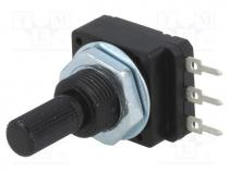 Potentiometer  shaft, single turn, 2.2kΩ, 60mW, PCB, 6mm, plastic