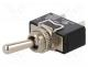 Switch  toggle, Positions  2, SPST, OFF-ON, 16A/250VAC, 100mΩ, IP67