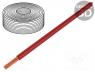 D-125050 - Wire, stranded, Cu, 1x0,25mm2, PVC, red, 100V, -10÷85°C, 50m, Class  5