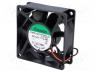 Ανεμιστήρας DC - Fan  DC, axial, 12VDC, 70x70x25mm, 83.25m3/h, 45dBA, ball bearing