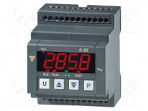 Ελεγχος Θερμοκρασίας - Module  regulator, temperature, SPDT, OUT 2  SPDT, DIN, 250VAC/8A