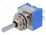 Switch  toggle, Pos  3, DP3T, ON-OFF-(ON), 6A/125VAC, -10÷55°C, 1kV