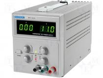 Power supply, adjustable voltage and current 0-30V/3A