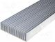 Heatsinks - Heatsink extruded grilled L 1000mm W 190.5mm H 50mm plain